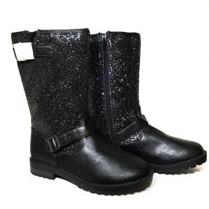 143 Girl Black Sparkly The Abby Boots Size 4